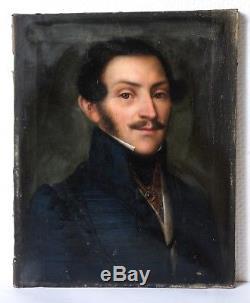 Peinture Portrait Ancien Homme, Tableau Ancien Huile Portrait, Porträit Homme