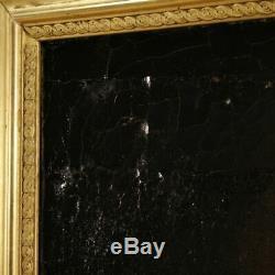 Peinture ancien tableau religieux espagnol huile sur toile Saint François cadre