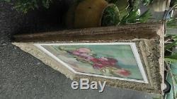 Peinture ancienne tableaux bouquet de fleurs dans son cadre Montparnasse