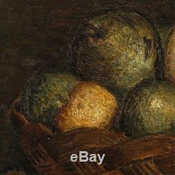 Peinture nature morte tableau huile toile néerlandais signé daté style ancien