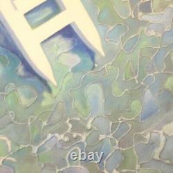 Peinture signée mer sur toile tableau style ancien avec cadre art paysage 900