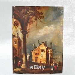 Peinture tableau ancien miniature sur cuivre école italienne ou méditerranéenne