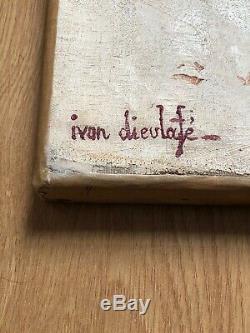 SUPERBE RARE ancien TABLEAU PEINTURE HST ORIENTALISTE signé Dieulafé 1903-1990