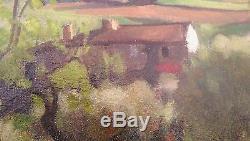Superbe Tableau Ancien Signe Illisible Paysage Provence Tres Belle Qualite