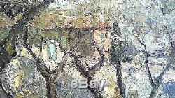 Superbe Tableau Ancien Signe Malcolm Mas En Provence Tres Belle Qualite 65x54 CM
