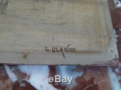 Superbe ancien tableau Peinture huile sur bois Louis Clanet Paysage Orientaliste