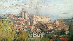 Tableau Ancien Marius Chambon Avignon Le Touquet Peintre Cote D'opale Tranchees
