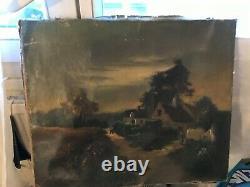 Tableau Ancien Peinture Barbizon Signe