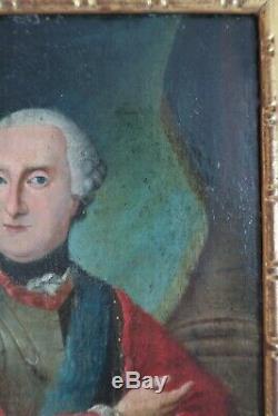 Tableau Ancien Portrait XVIII Joseph II Autriche Peinture Toile