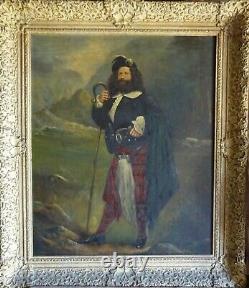 Tableau Ancien Portrait dHomme Lord écossais Peinture Époque XIX, non signé