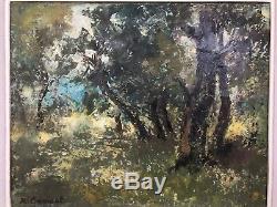 Tableau Ancien Robert Génicot (1890-1981) Peinture École Française Prix du Maroc