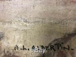 Tableau Ancien XIXe A. Albertin (1867-1933) Nature Morte Peinture Huile / Toile