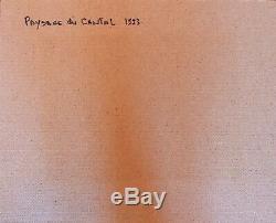 Tableau Ancien par Brion Michel (1927 1994) Huile/toile SBDPaysage du Cantal