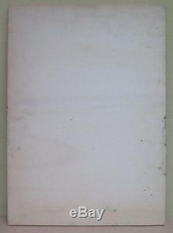 Tableau Ancienne Peinture Huile sur Table Paysage de Campagne Été Original 900
