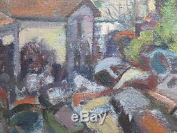 Tableau Ancienne Peinture à Huile sur Table Paysage avec Certificat Garantie p12