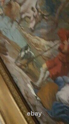Tableau De Qualite- 18 19e- Peinture Ancienne