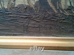 Tableau Gobert Panneau Ancienne Laffrey Le Grand Lac En Isere Peinture Dauphine