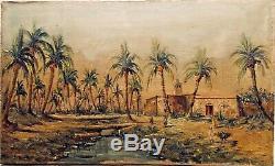 Tableau Peinture 19èm XIXèm 20èm XXèm G. Trombik Orientaliste Paysage Rare ancien