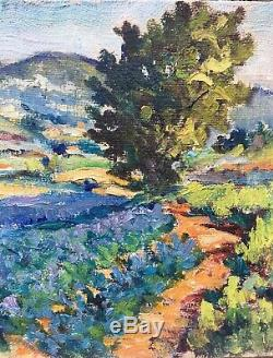 Tableau Peinture 20è XXè attr. À Béatrice Duval Paysage Apt Luberon rare ancien