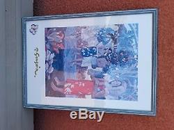 Tableau Peinture Ancienne Huile, Femme, Nue, Allongé, Chat