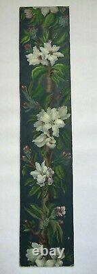 Tableau Peinture Ancienne Huile Fleurs, Bouquet de Fleurs