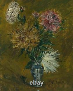 Tableau Peinture Ancienne Huile Zacharie ASTRUC (1835-1907) Bouquet de Fleurs