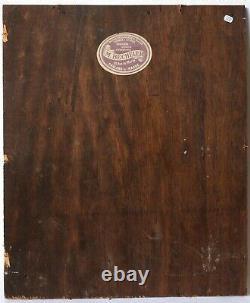 Tableau Peinture Ancienne Huile signé Bouquet de Fleurs, Vase, Orchidée