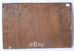 Tableau Peinture Ancienne Huile signé Henri FONTAINE (1887-) Marine, Bateau