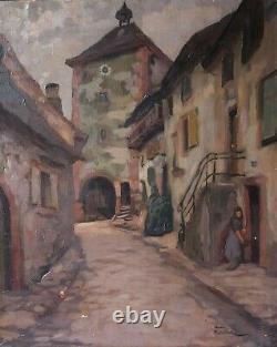 Tableau Peinture Ancienne Huile signé Henri MARCHAL (1878-1942), Porte Turenne