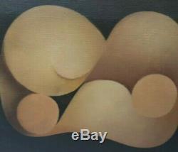 Tableau Peinture Ancienne Huile signé Louis CARMEIL (1920), Abstrait 1971