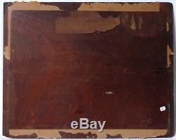 Tableau Peinture Ancienne Huile signé, Paysage, Marine, Mer, Vague