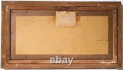 Tableau Peinture Ancienne Huile signé, Paysage, Orchamps Edouard Jérôme PAUPION