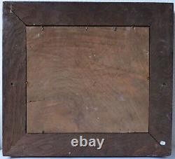 Tableau Peinture Ancienne Huile signé Paysage, Rivière, Arbre