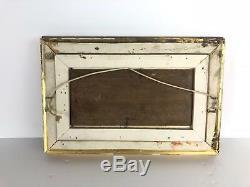 Tableau / Peinture Ancienne Sur Panneau Encadrée (bord De Mer) 32 CM X 21