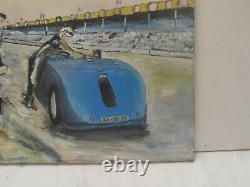 Tableau Peinture Automobile Voiture Ancienne