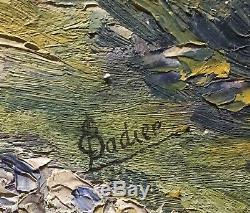 Tableau Peinture Cadre 20ème XXème Badier Paysage Ecole provençale Rare ancien