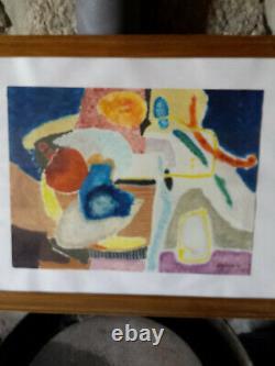 Tableau Peinture Cadre 20ème XXème Signé Art Moderne Expressionnisme rare ancien