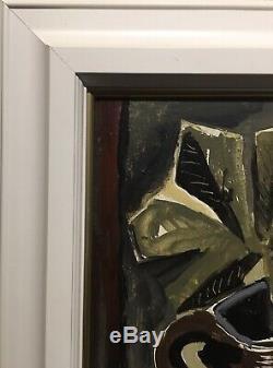 Tableau Peinture Cadre 20ème XXème Zdenk Sigmund Nature morte rare ancien