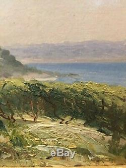 Tableau Peinture Cadre ancien 19èm XIXèm 20èm XXèm Carvin Paysage provençal Rare