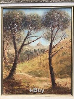 Tableau XXe Italie Saint Pierre Rome Cadre Montparnasse Peinture Ancienne