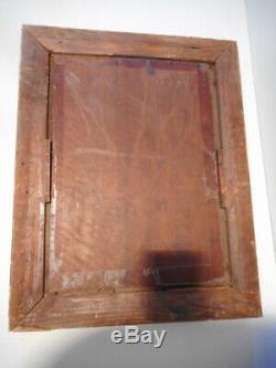 Tableau ancien 19 siècle Linossier 1889 peinture ancienne jeune femme assise