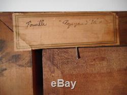 Tableau ancien 19 siècle peinture Horace FONVILLE peintre lyonnais gout Barbizon