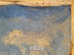 Tableau ancien Impressionniste signé Georges CARRE Chapelle Bretagne Huile c1928