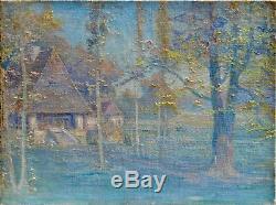 Tableau ancien, Paysage impressionniste. Vers 1900
