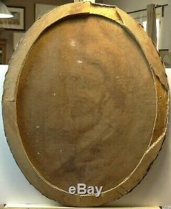 Tableau ancien XIX portrait jeune femme, ARLESIENNE signé J. WENZEL 1876