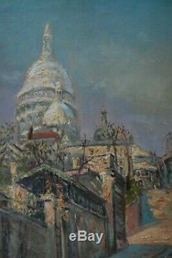 Tableau ancien butte de Montmartre