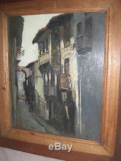Tableau ancien de Pierre Labrouche Fontarabie pays Basque