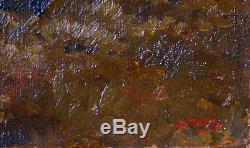 Tableau ancien par Alexandre René Veron 1826-1897. Paysage