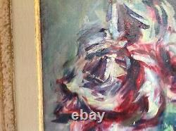 Tableau ancien peinture a l'huile sur papier marouflé sur toilede René Morère