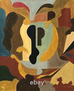 Tableau ancien peinture abstraite années 50